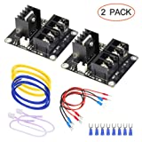 3D Printer Heat Bed Power Module SIMPZIA General Add-on Hot Bed Mosfet MOS Tube High Current Load Module for 3D Printer Hot Bed/Hot End(2 Pack) (Tamaño: 2 Pack)