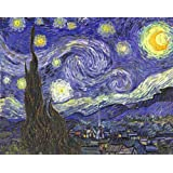 Art Emporio 'Starry Night By Van Gogh' Poster (Canvas Print, 58.42 Cm X 45.72 Cm)