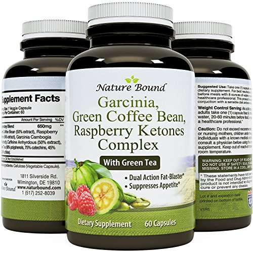 Tri-Blend - Pure Garcinia Cambogia HCA, Green Coffee Bean and Raspberry Ketones Complex- By Nature Bound (Green Coffee Tablets compare prices)