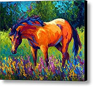 horse pattern size 10x9 inch oil painting