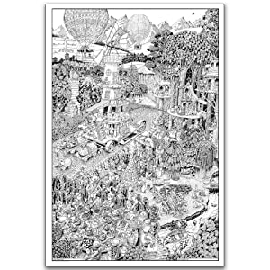 Wildergorn Colour-In Posters - Potters' Road - GIANT colouring poster 27 x 40 inches