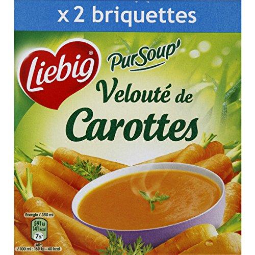Liebig - Pur'Soup - Soupe Velouté de carottes - les 2 briques de 35 cl - (pour la quantité plus que 1 nous vous remboursons le port supplémentaire)