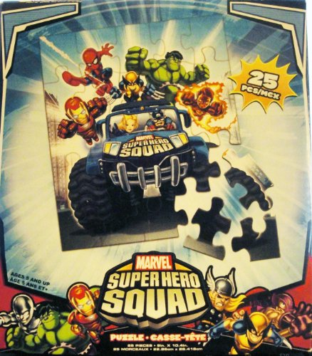 Marvel Super Hero Squad Jigsaw Puzzle - 24 Pieces - Pack of 2 - Varied Design