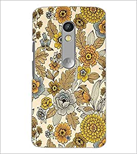 Printdhaba Floral Design D-1443 Back Case Cover For Motorola Moto X Play