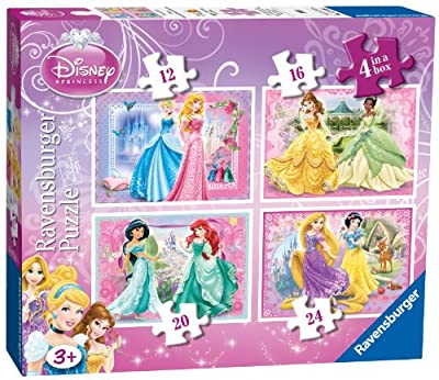 Ravensburger 4-in-1 Disney Princess Beautiful Puzzles