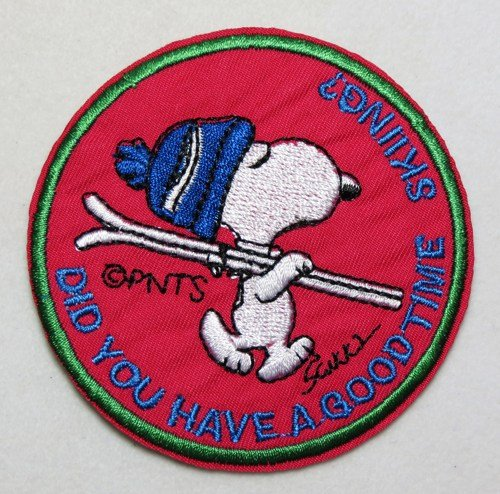 Snoopy Ski Hat Skiing Embroidered Peanuts Iron On Sew On