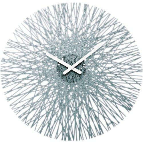 Koziol Silk Wall Clock, Transparent Anthracite