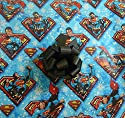 DC Comics SUPERMAN Christmas Wrapping Paper w Gift Bows