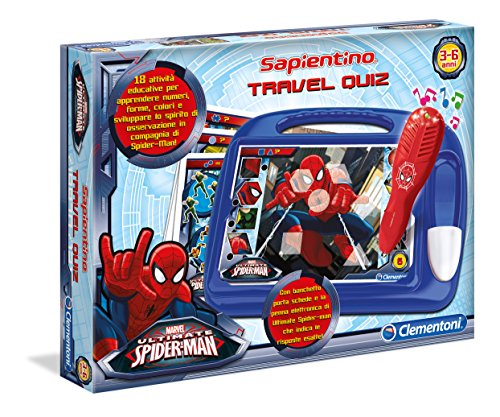 Clementoni 13269 - Sapientino Travel Quiz Spiderman