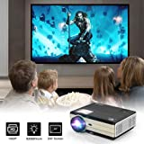 Projector 4200 Lumens LED LCD Video Projector Support Full HD 1080P Wuxga Movie Gaming Smart Multimedia Home Theater Cinema Outdoor Projector with HDMI USB VGA AV 3.5mm Aux Audio Zoom Keystone (Color: hd wxga lcd projector)