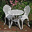 White Rose Bistro Set