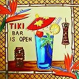 "Tiki Bar Is Open - Decorative Ceramic Art Tile - 8""x8""En Vogue"
