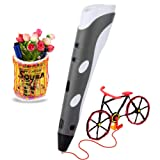 Soyan 3D Printing Pen for Doodling, Prototyping Design and Art Making, Easy to Use, 3D Pen for Beginners (Gray) (Color: Gray)