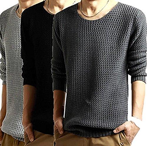 シンプル ニット メンズ セーター 長袖