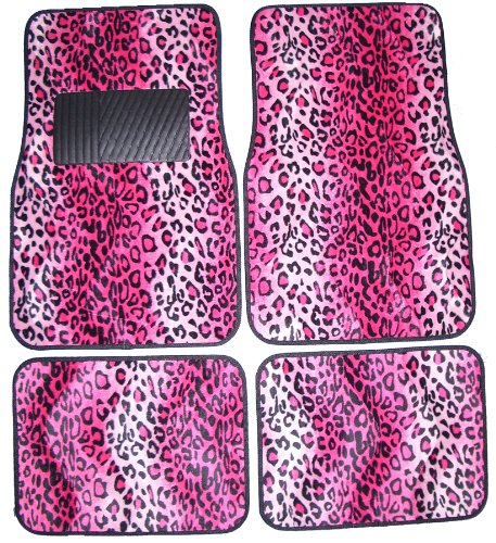 Pink Leopard Animal Print Front Amp Rear Carpet Car Truck