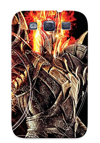 QueenVictory Protection Case For Galaxy S3 / Case Cover For Christmas Day Gift(lord Of The Rings Warrior Magic Sauron Armor Helmet Games Lotr)