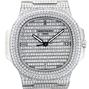Patek Philippe Nautilus 5719/1G 18k White Gold Diamond Watch