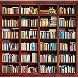 5x7ft Vinyl Bookshelf Library School Study Bookcase Photography Studio Backdrop Background