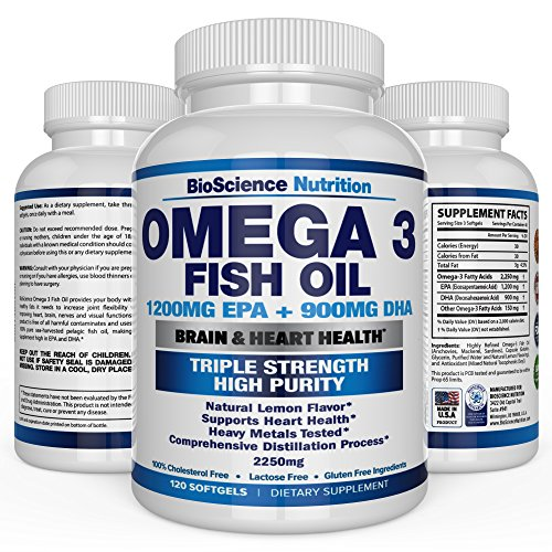Omega 3 fish oil 2250mg high epa 1200mg dha 900mg for Epa dha fish oil