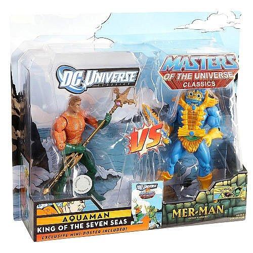 DC Universe Masters of the Universe Classics Exclusive Action Figure 2Pack Aquaman Vs. MerMan