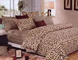 ensunpal store 100% Cotton Leopard Animal Print Duvet Quilt Cover Reviews