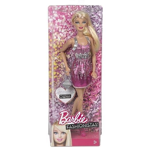 Barbie - Y7487 - Poupée Mannequin - Fashionista Blonde - Rose