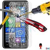 Nokia Lumia 625 écran LCD en verre trempé Crystal Clear Guard Protector & Chiffon SVL1 PAR SHUKAN®, (VERRE TREMPÉ)