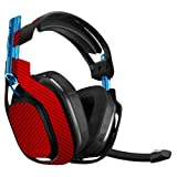 MightySkins Skin for Astro A50 Gaming Headset - Red Carbon Fiber | Protective, Durable, and Unique Vinyl Decal wrap Cover | Easy to Apply, Remove, and Change Styles | Made in The USA (Color: Red Carbon Fiber, Tamaño: Astro A50)