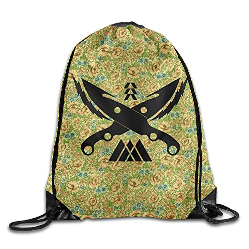 Creative Design Destiny Hunter Knife Drawstring Backpack Sport Bag For Men And Women