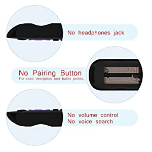 Gvirtue Replacement Remote Control for Roku 1, Roku 2(HD, XD, XS), Roku 3, Roku LT, HD, XD, XDS, Roku N1, Roku Express, Roku Express+ (6 Buttons) (Color: 6 Buttons)