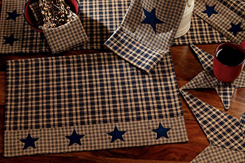 Vintage Star Navy Applique Placemats 13