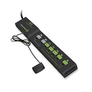 Tricklestar 7 Outlet Advanced PowerStrip (Color: Black)