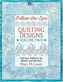 Follow-the-line-quilting Designs: Full-size Patterns for Blocks And Borders
