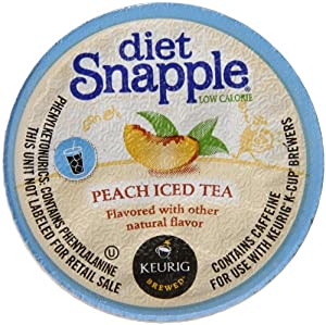 Snapple Diet Iced Tea, Peach, 22 Count by Snapple