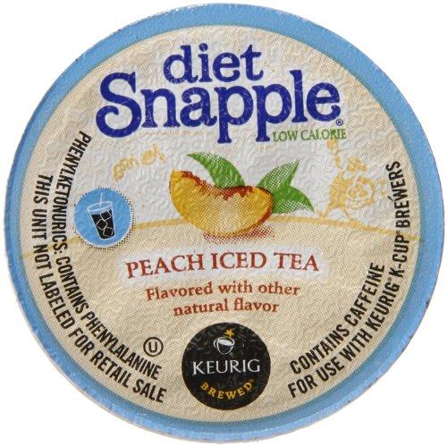 Snapple Diet Iced Tea, Peach, 22 Count Net Wt. 3.1 oz (Keurig Tea K Cups Peach compare prices)