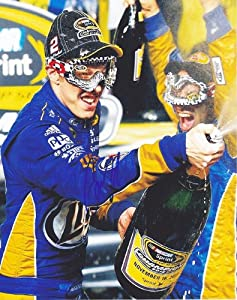 Buy AUTOGRAPHED 2012 Brad Keselowski #2 Miller Lite Racing CUP CHAMPION Victory Lane 8X10 SIGNED NASCAR Glossy Photo w  COA by Trackside Autographs