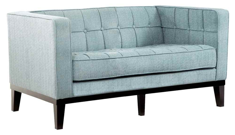 Contemporary Loveseat in Blue