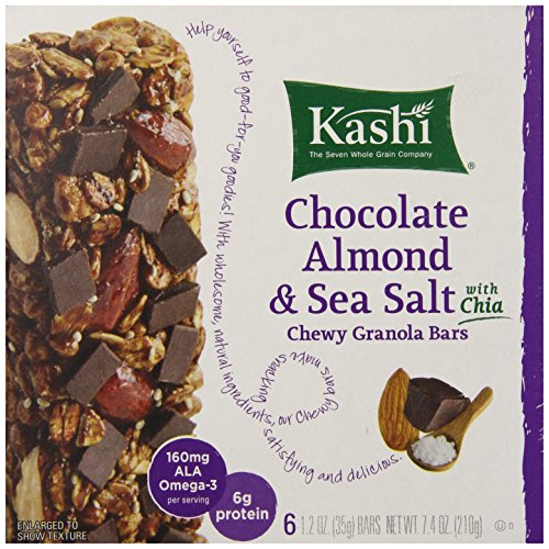 Kashi Chewy Granola Bars, Chocolate Almond and Sea Salt with Chia, 7.4 oz (Flax Seeds Roasted Organic compare prices)