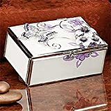 StealStreet SS-A-38109 Butterfly Jewelry Box, Creamy Lavender