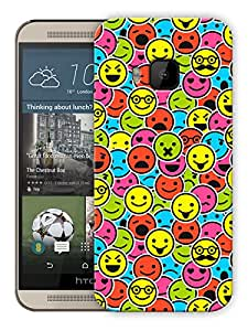 "Humor Gang Smileys Mixed Up Printed Designer Mobile Back Cover For ""HTC ONE M9"" (3D, Matte, Premium Quality Snap On Case)"