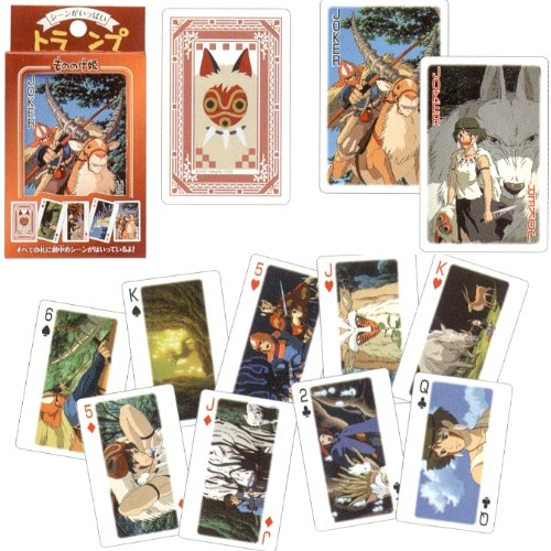 Studio Ghibli Playing Cards - Princess Mononoke