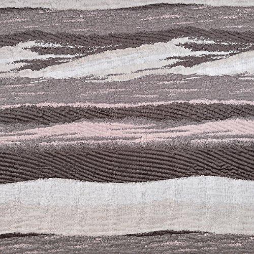 Sancarlos - Colcha dibujo mare chocolate - reversible - doble tela - bordado jacquard