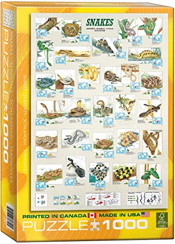 EuroGraphics Snakes 1000 Piece Puzzle