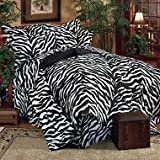 Kimlor Mills Karin Maki Zebra Complete Bed Set, Twin, Black