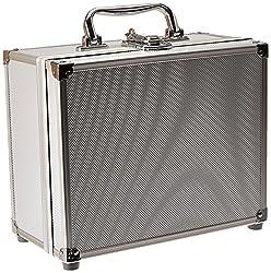 SRA Cases EN-AC-FY-A012 Silver Aluminum Hard Case, 9.9 x 7.9 x 4.9 Inches, Cubed Foam
