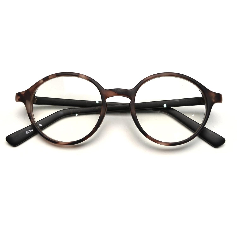 Amazon.co.jp: (トライバル)TRIBAL 知的レトロな丸メガネ ロイドタイプマットカラーダテ眼鏡 ブラウンデミ: 服&ファッション小物通販