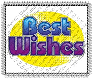"8"" Round ~ Best Wishes Get Well ~ Edible Image Cake/Cupcake Topper!!!"