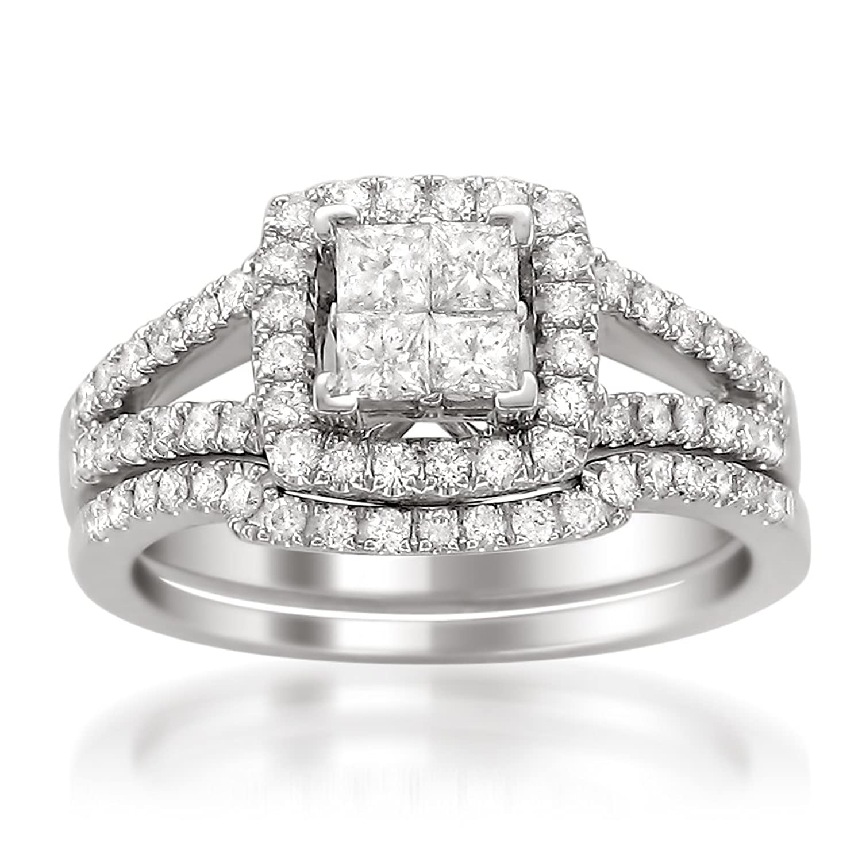 princess halo split shank composite ring