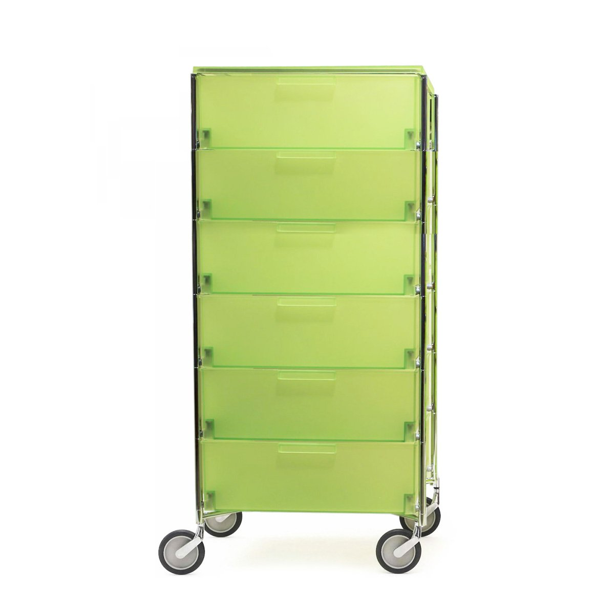 Kartell 2040L3 Container Mobil, 6 Schubladen, zitronengelb