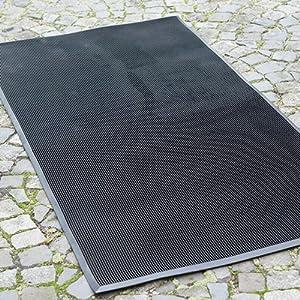 Fußmatte Gummi 183 x 91 cm | Stärke 16 mm | Stiftmatte  BaumarktBewertungen
